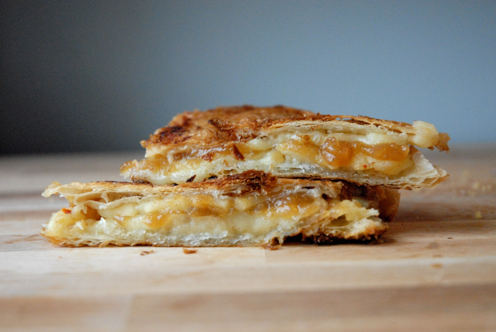 ... Pepper Jack Croissant Grilled Cheese with Apple Butter - Grilled