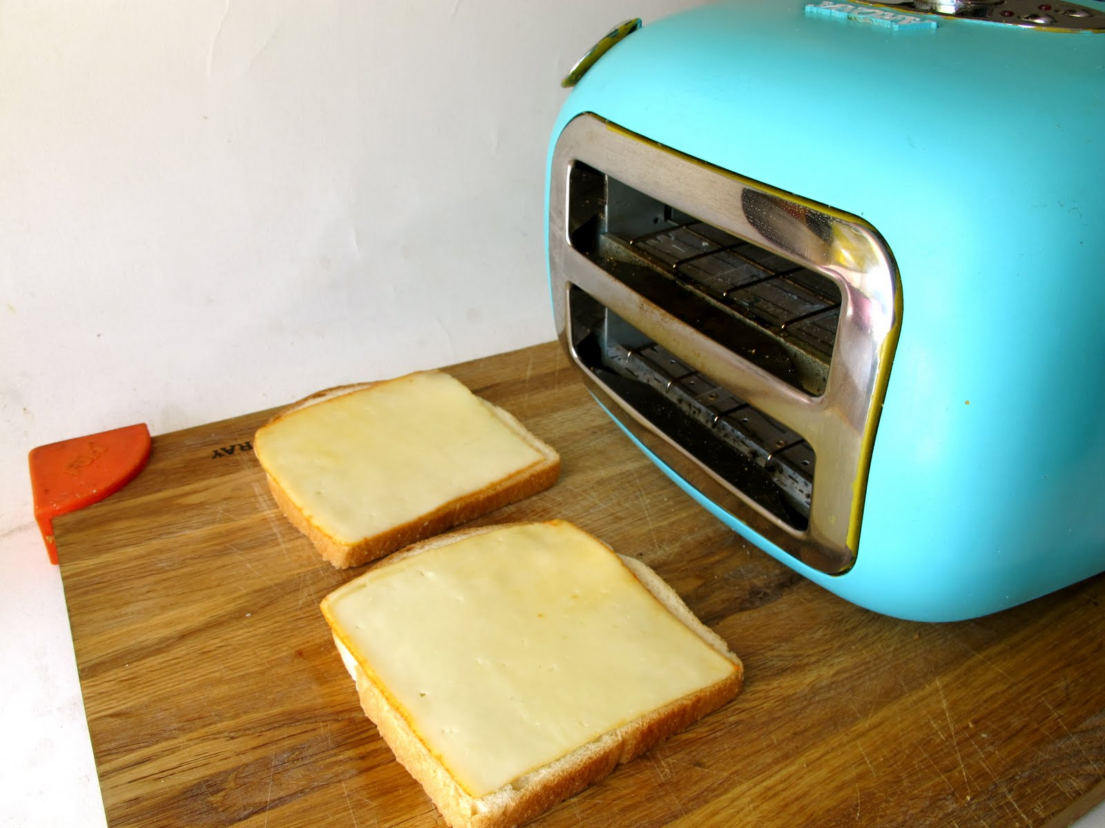 """So When You Use The Whole €�toaster Technique"""" You're Going To Want To Use A  Super Flat Slice Of Cheese Using Shredded Cheese Would Be An Absolute Mess  And"""