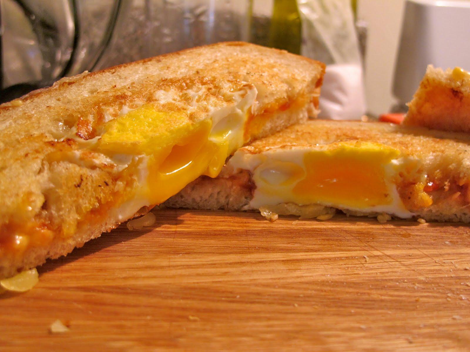 Pkiedrow's dream cheeeeee - Gruyere, Egg, and Tomato Chutney Grilled ...