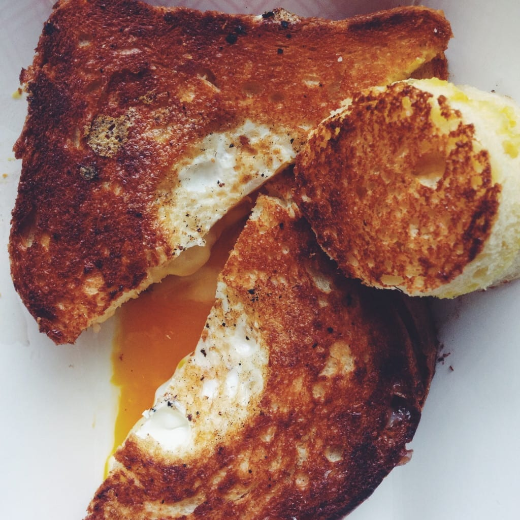 Hole-in-One Style Grilled Cheese