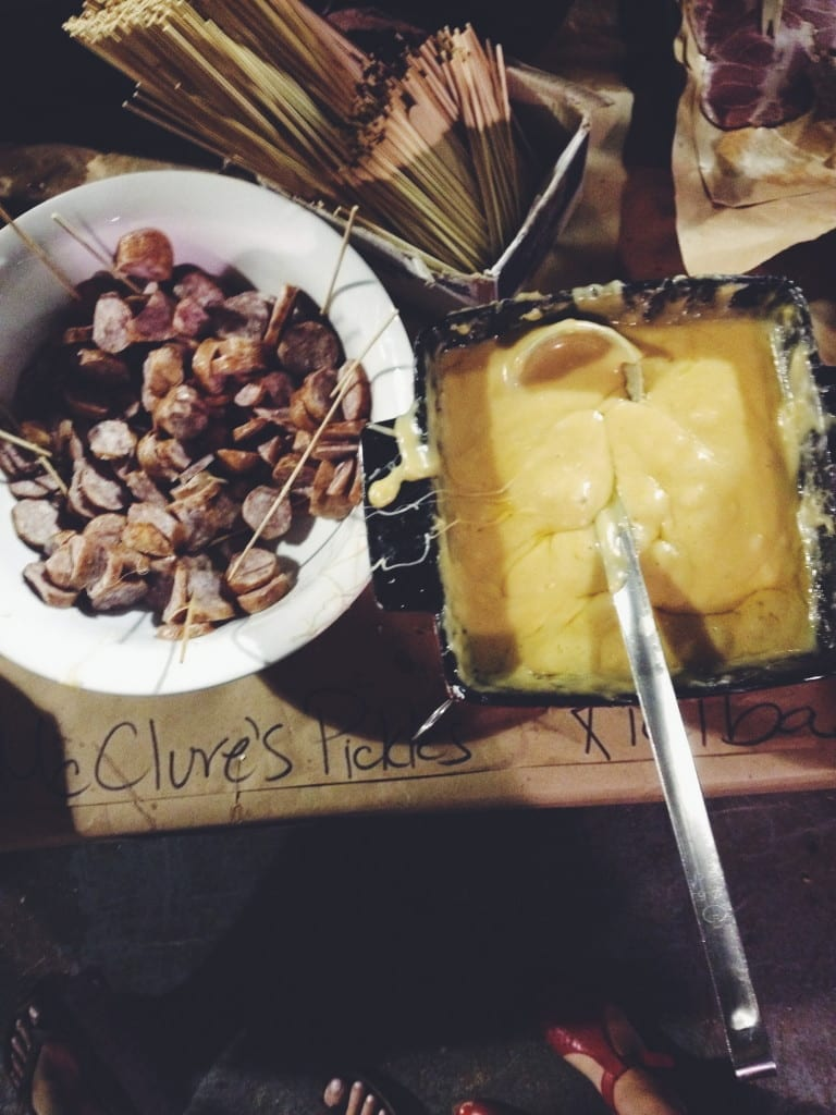 Fondue and Sausage