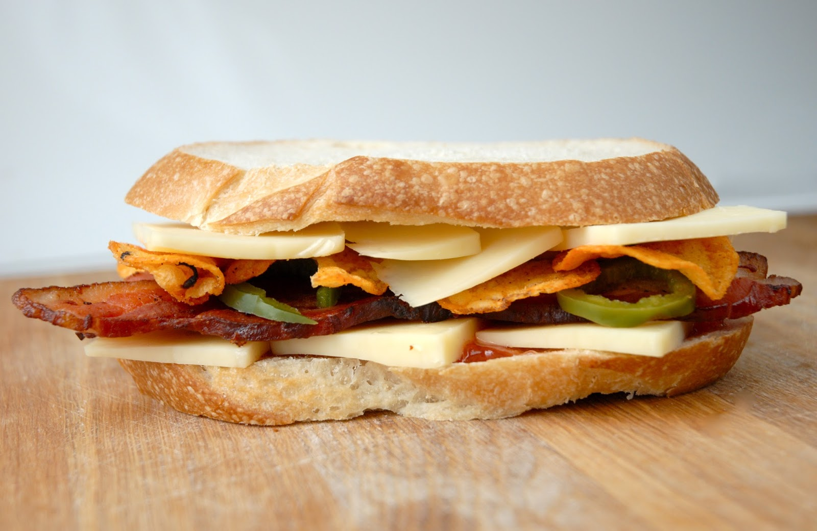 The A-Team - Cheddar, Bacon, Tomato Jam, Pickled Jalapenos ...