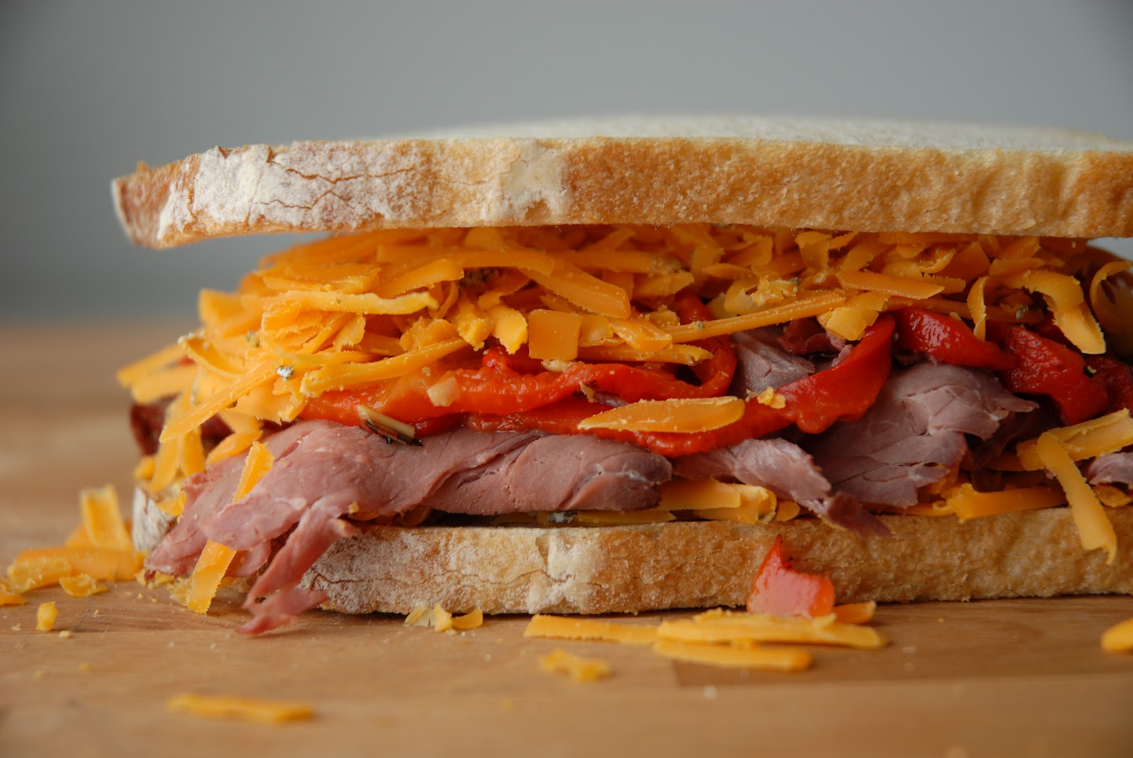 Roast BFF – Red Rock, Roasted Red Peppers, and Roast Beef Grilled ...