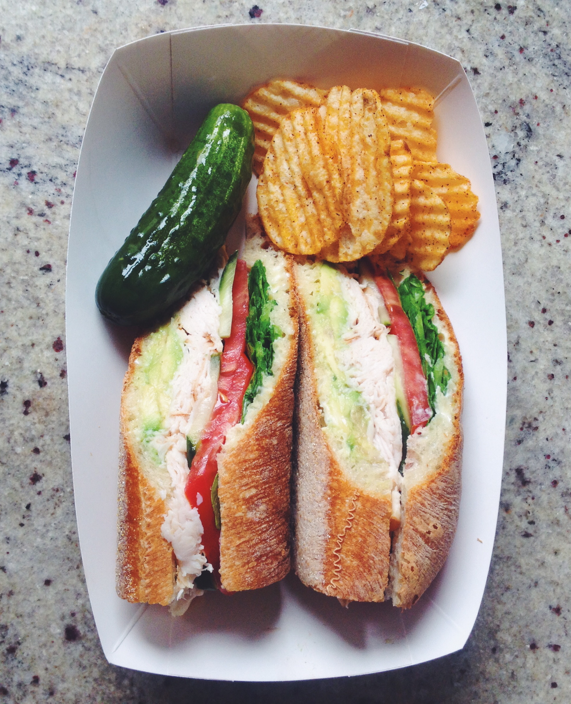 The perfect turkey sandwich