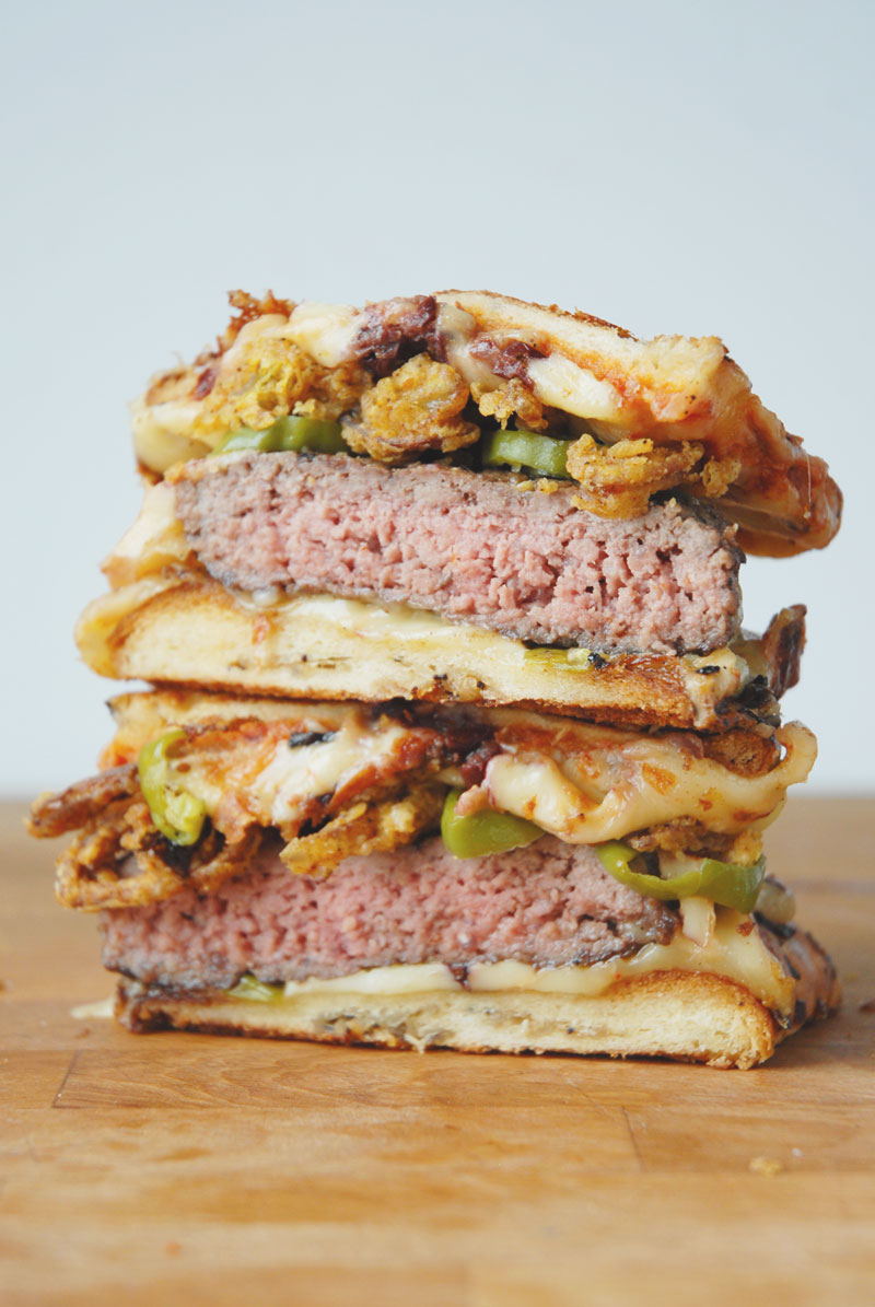 burger grilled cheese