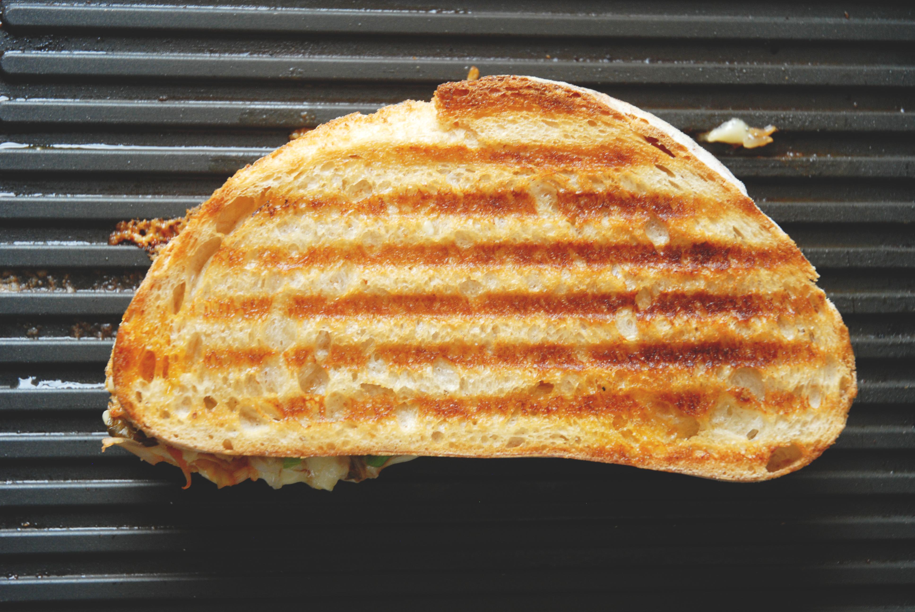 bibimbap grilled cheese kimchi