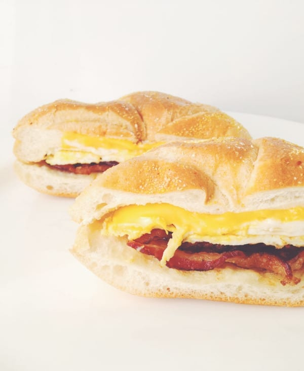 Bodega Style Bacon, Egg and Cheese