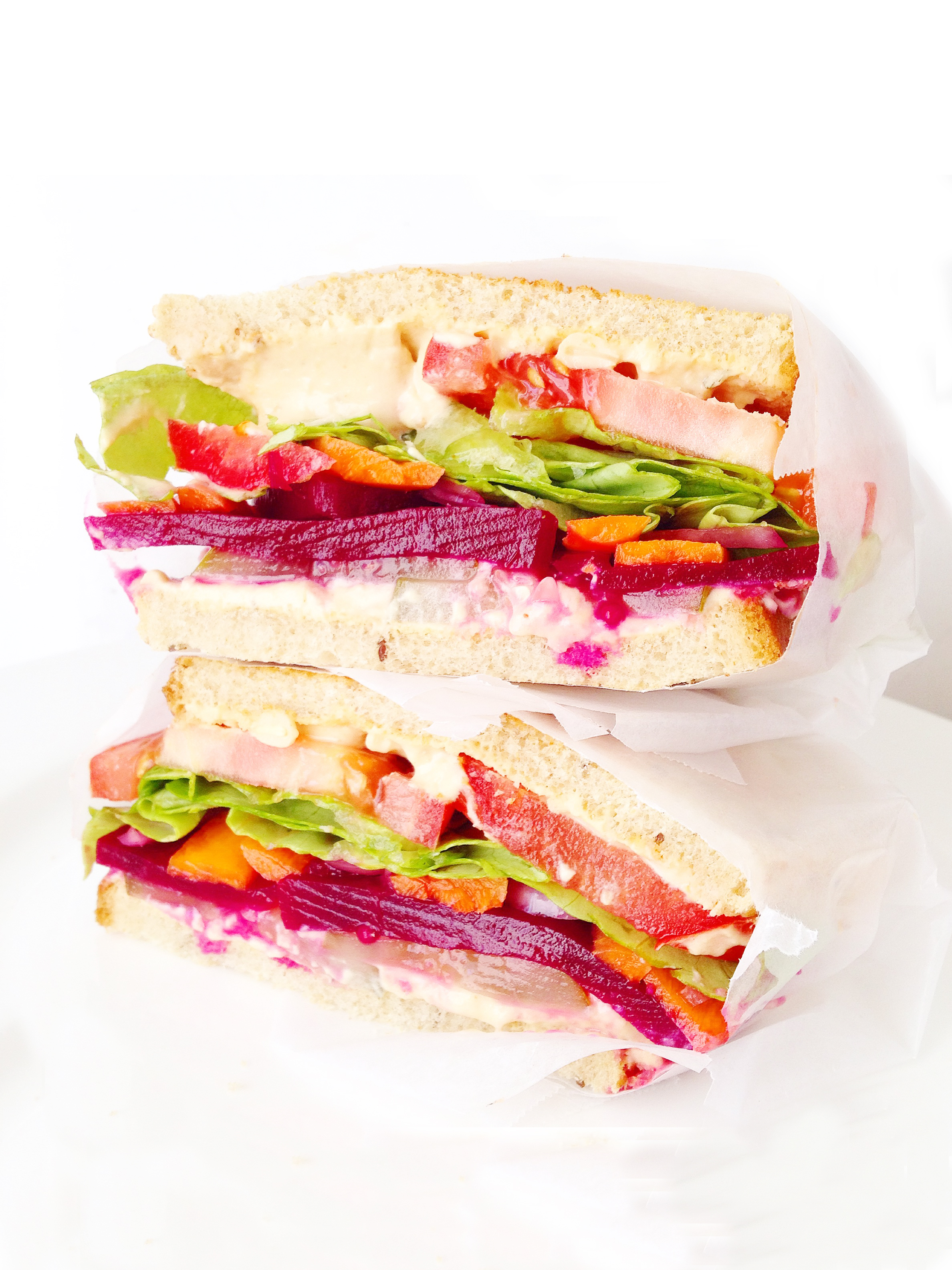 Not Boring Vegetable Sandwich