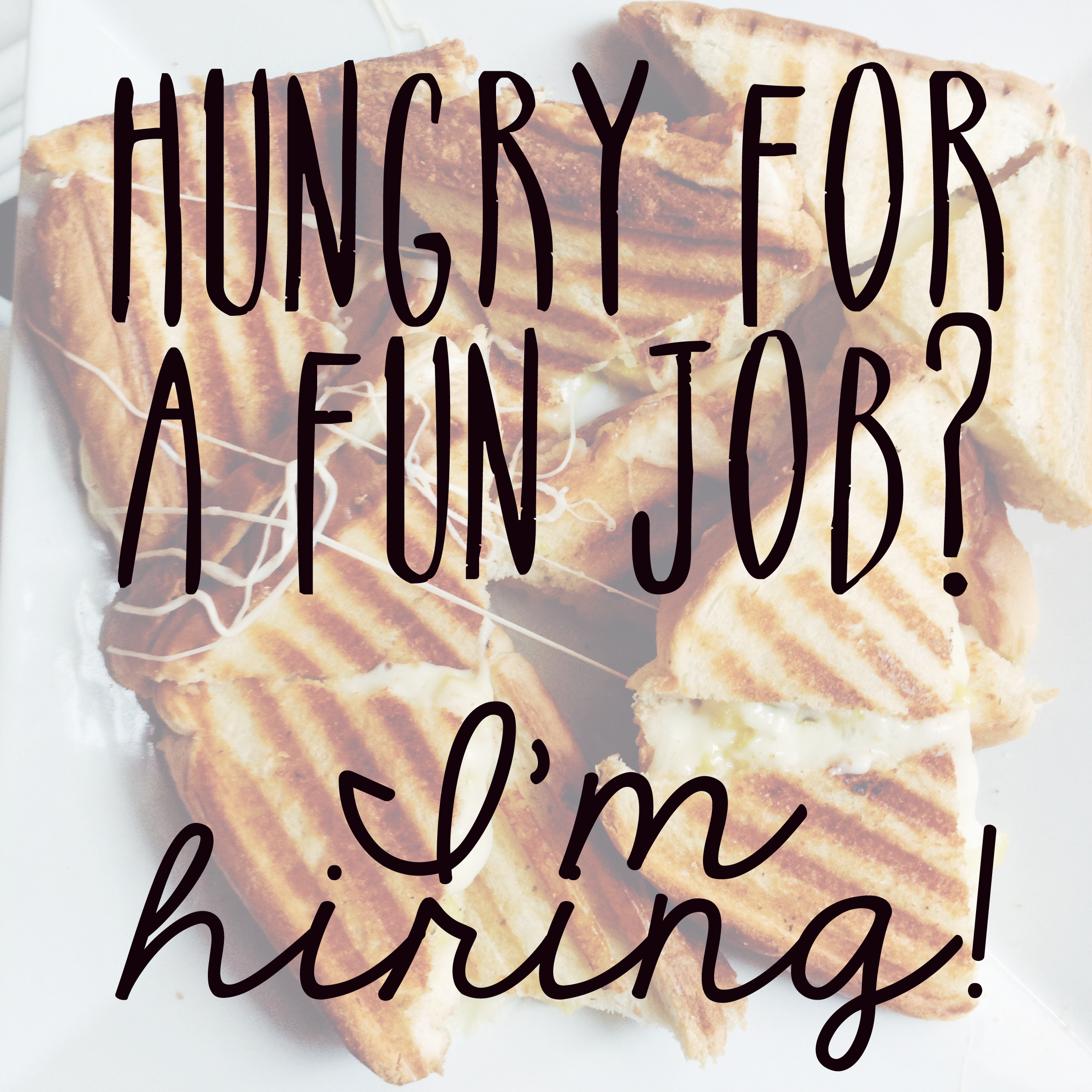 Now hiring grilled cheese social