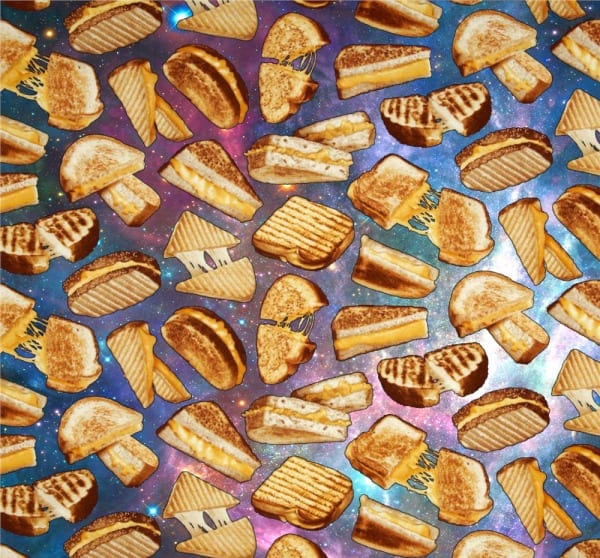 space grilled cheese pattern