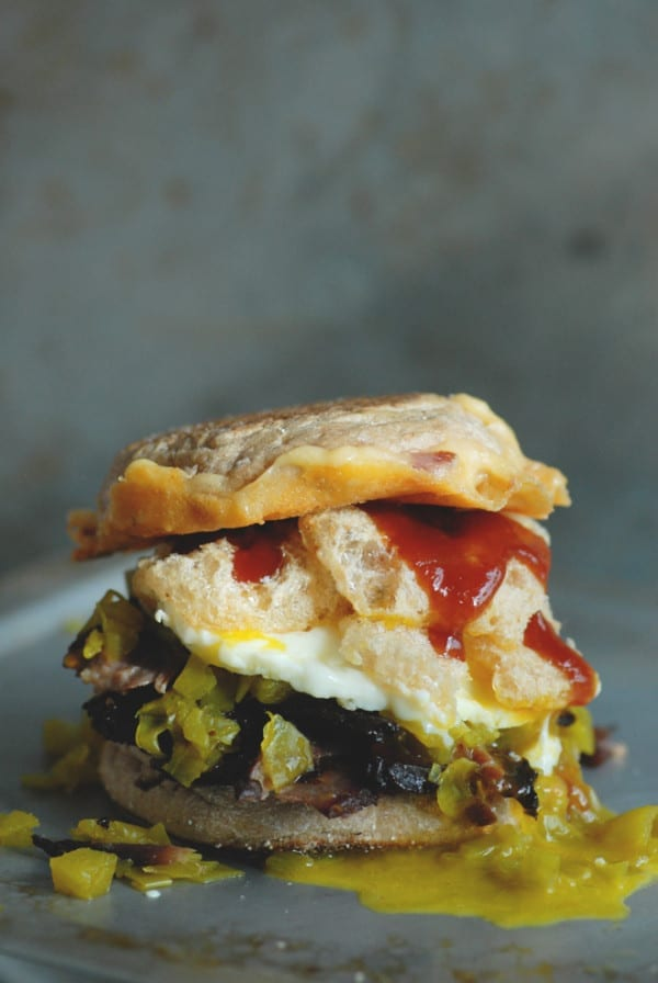 pork rind breakfast sandwich