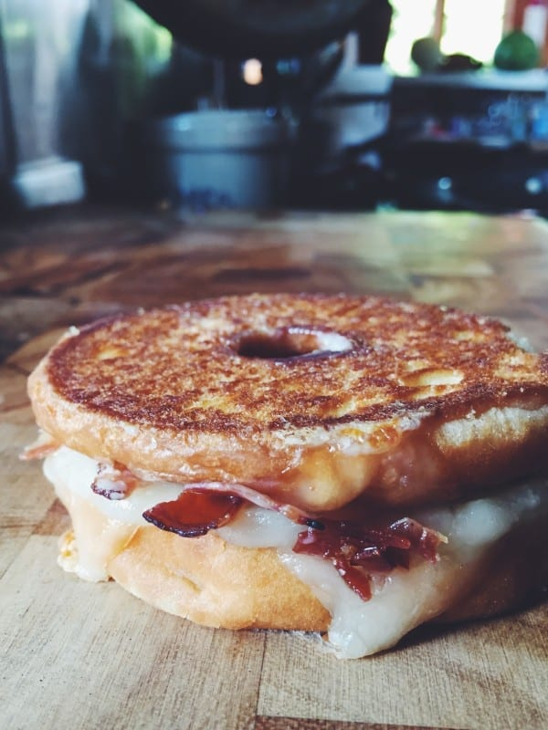 donut grilled cheese social