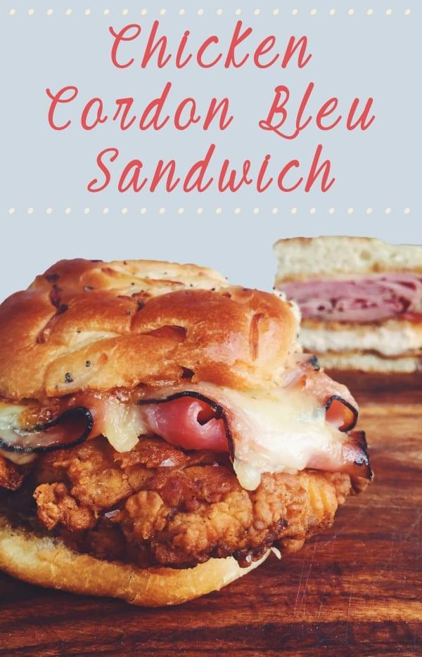 chicken cordon bleu sandwich easy
