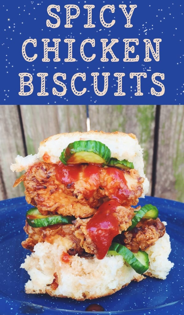 fried chicken sandwich recipes - spicy chicken biscuits grilled cheese social