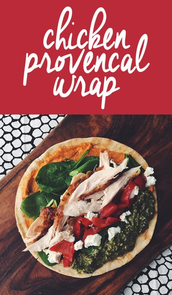 chicken provencal wrap