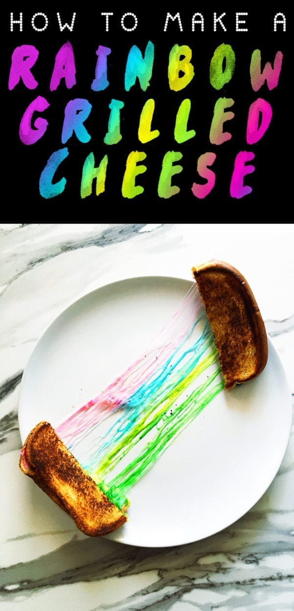 how to make a rainbow grilled cheese social