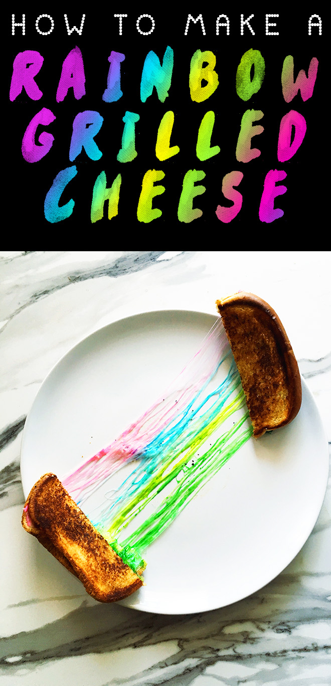 How to Make The Rainbow Grilled Cheese Sandwich