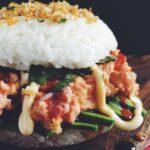 Spicy Tuna and Avocado Sushi Burger