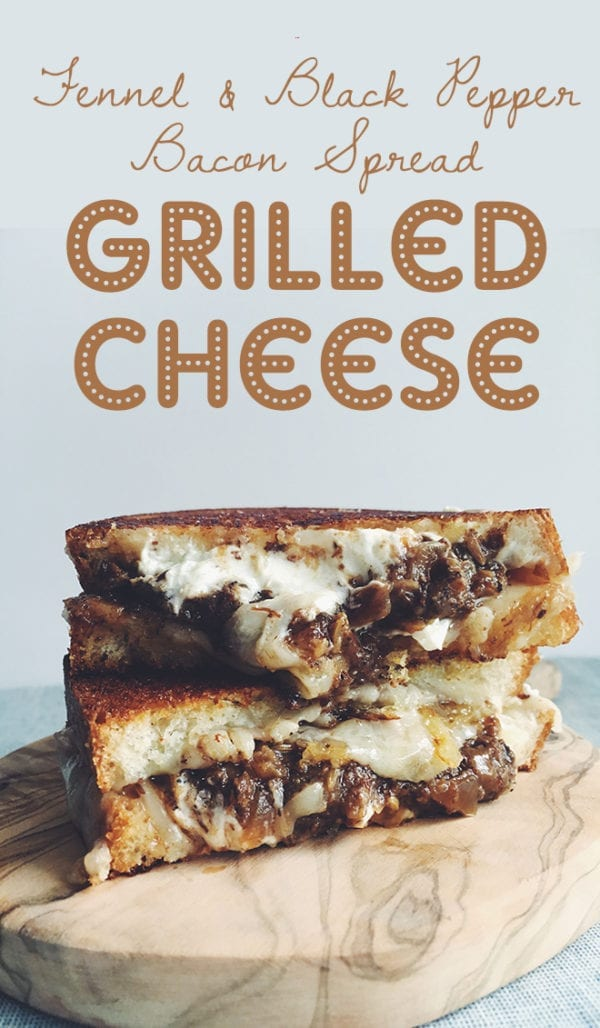 Fennel Bacon Jam Grilled Cheese Social