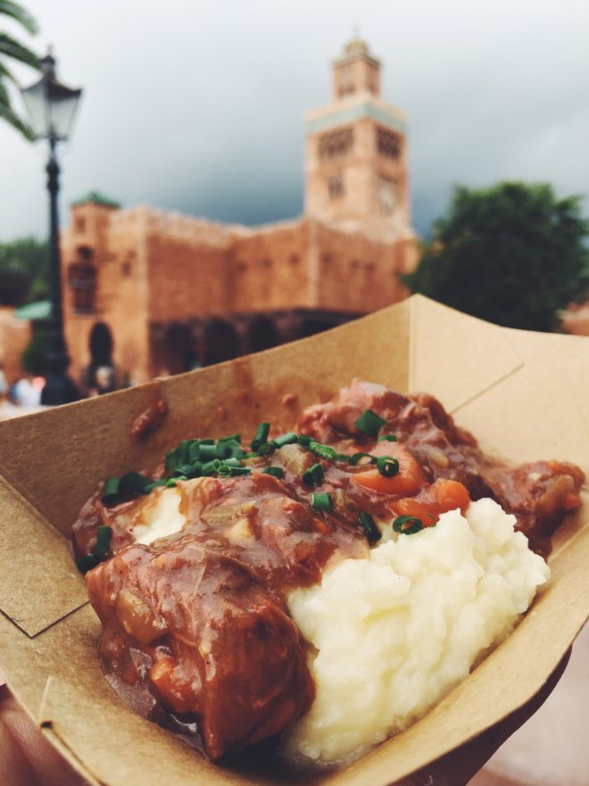 Epcot's 2016 Food and Wine Festival Best Cheese Dish 5 Beef Bourguignon Gouda Potatoes