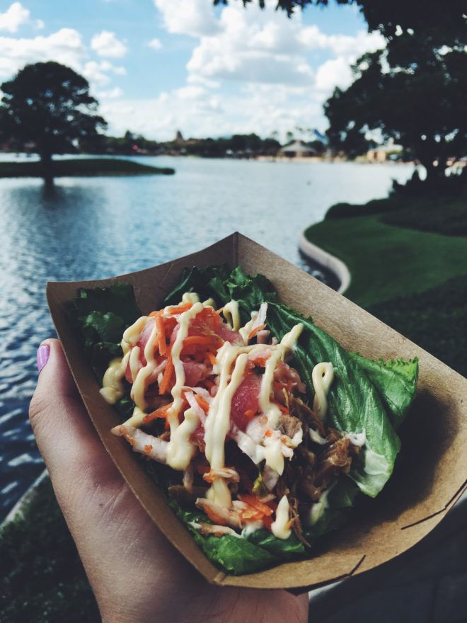 Epcot's 2016 Food and Wine Festival Best Dish 9 Pork Lettuce Wrap Korea