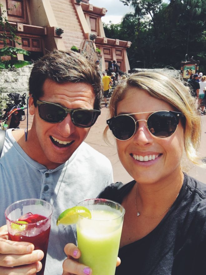 Food Writer MacKenzie Smith and Pro Surfer Jeremy Johnston at Epcot Food and Wine 2016
