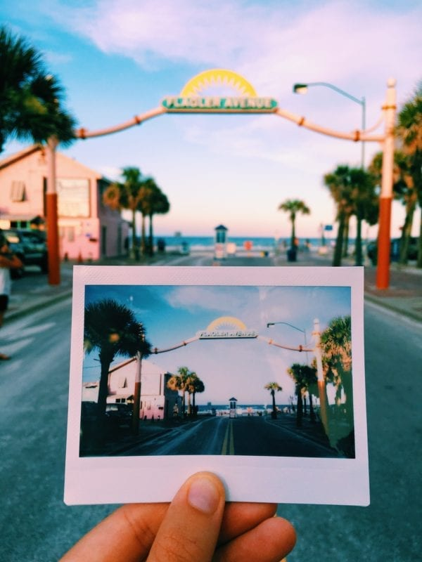Flagler Avenue in New Smyrna Beach, Florida