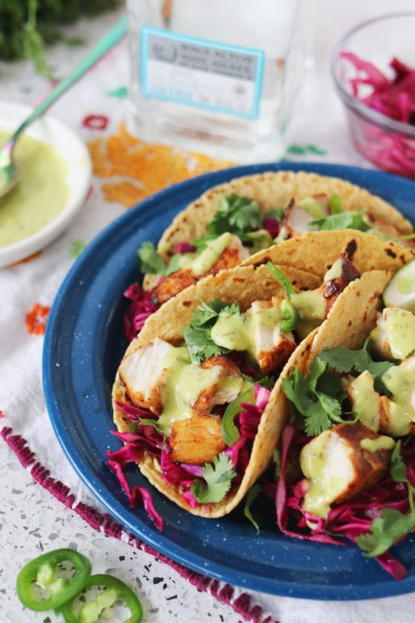 Coconut Tequila Fish Tacos