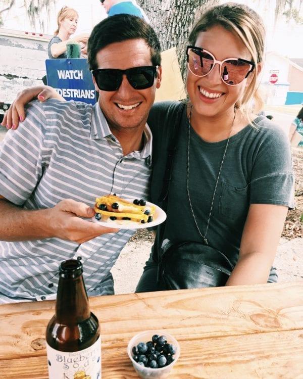 MacKenzie Smith and Jeremy Johnston at the Florida Blueberry Festival