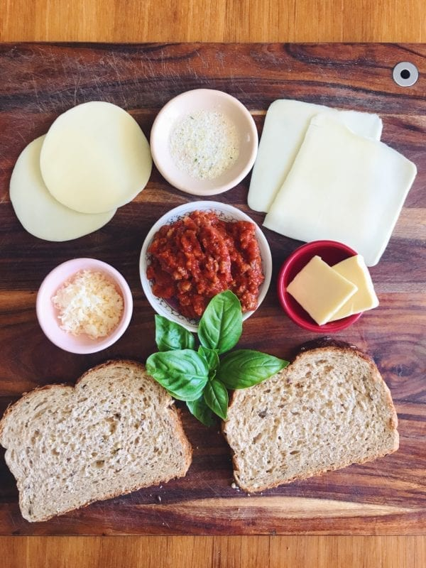 sloppy bol - an italian style sloppy joe grilled cheese made with bolognese sauce