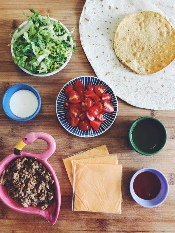 DIY crunch wrap supreme ingredients