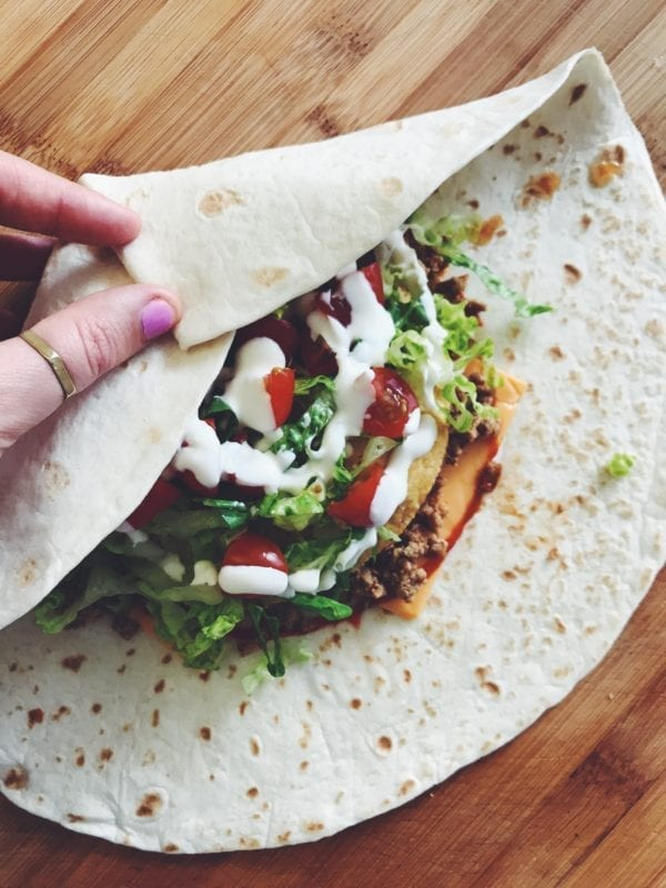 how to make crunch wrap supreme
