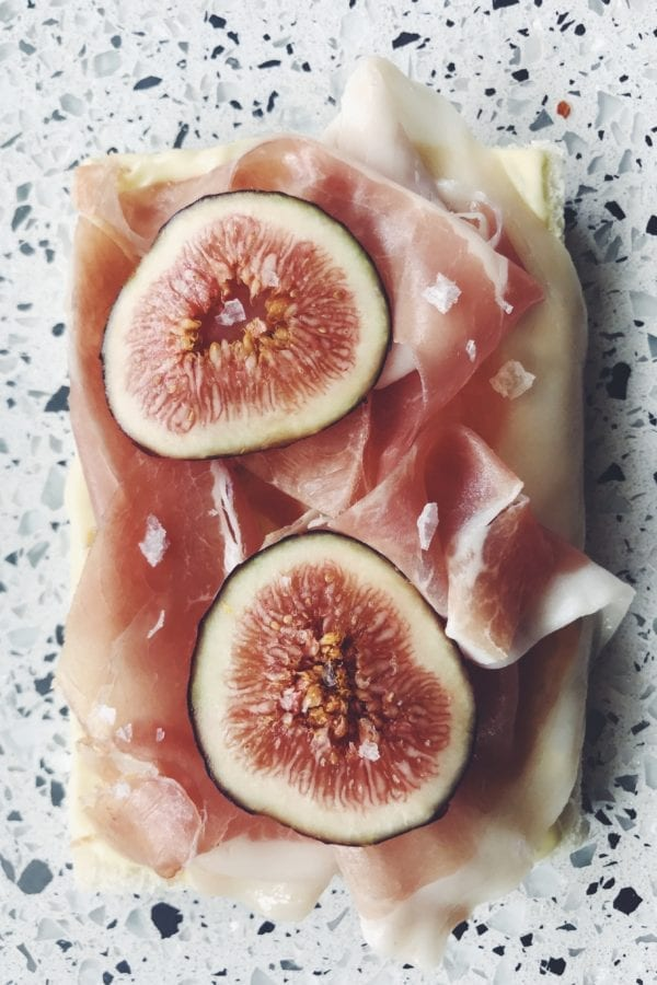 fig and prosciutto tramezzini - italian finger sandwiches