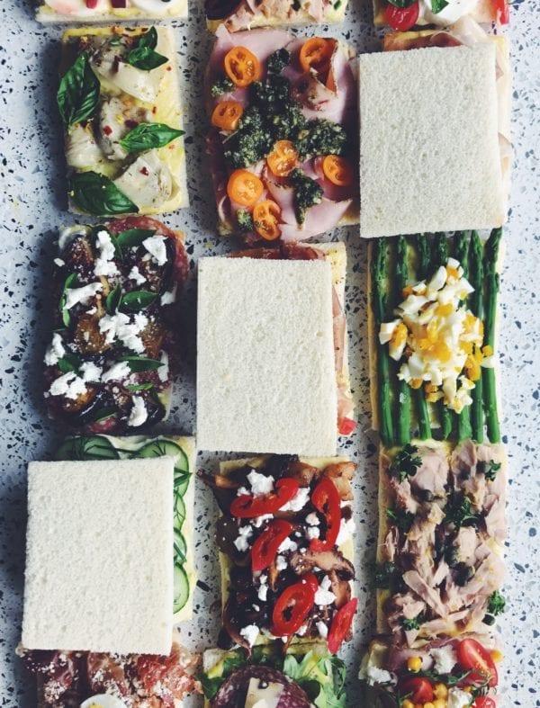 tramezzini - italian finger sandwiches