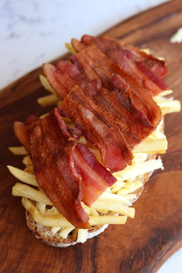 Animal Style Loaded French Fry Grilled Cheese Sandwich Recipe