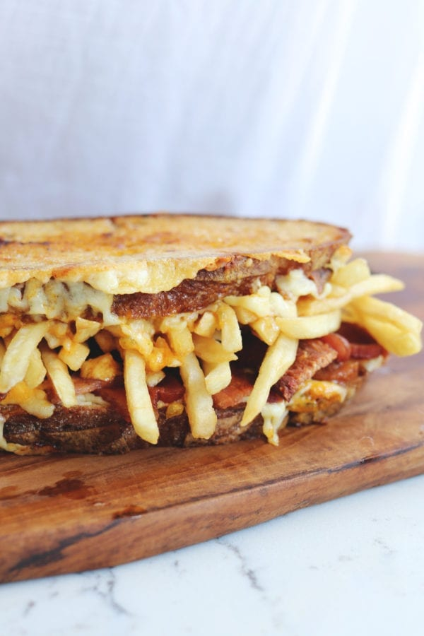 Loaded French Fry Grilled Cheese Sandwich Recipe