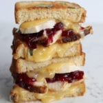 thanksgiving leftovers grilled cheese