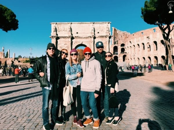 free family walking tour rome, italy