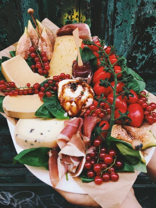 cheese plate made with campo di fiori goods rome