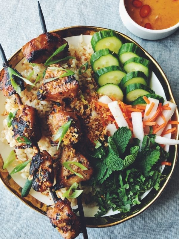 Com Ga Nuong with nuoc cham