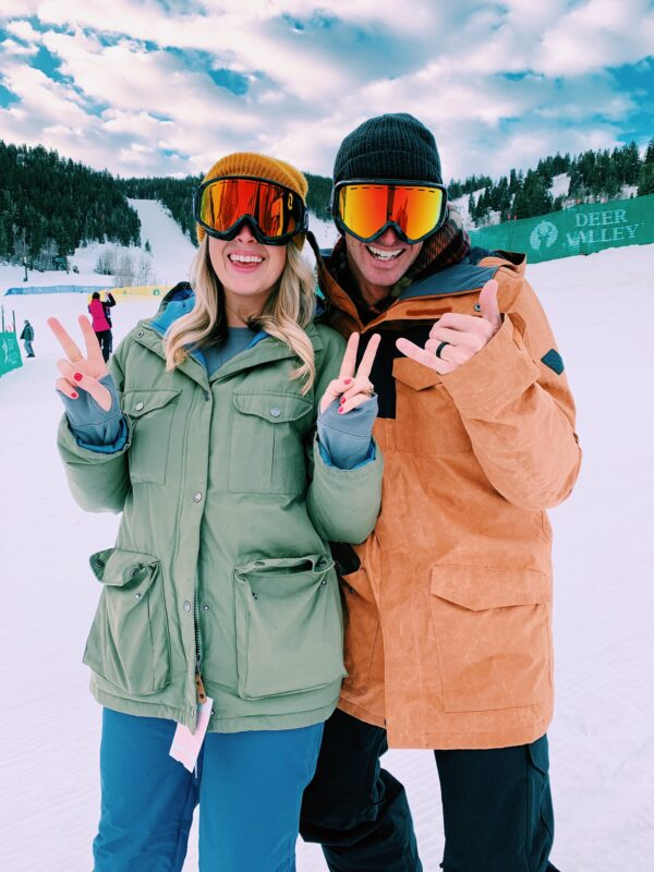 MacKenzie Smith and Jeremy Johnston in Deer Valley Utah for their Mini-Moon