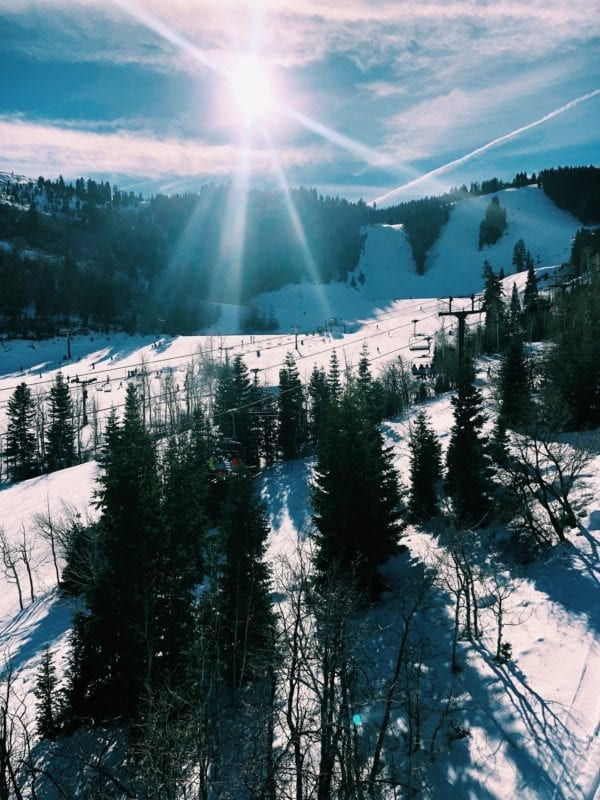 A picture from the ski lifts in Deer Valley, Utah