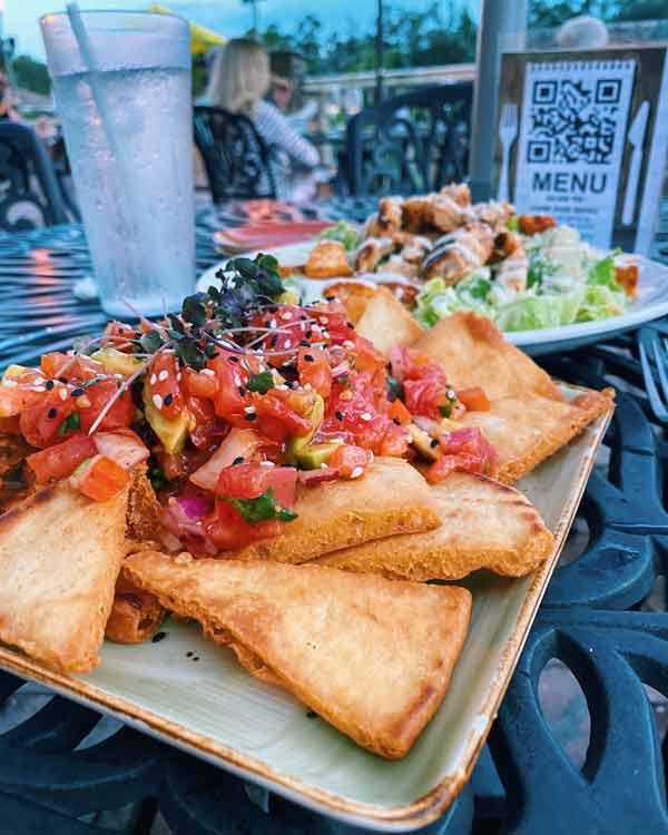 ahi tuna nachos from bistro 424
