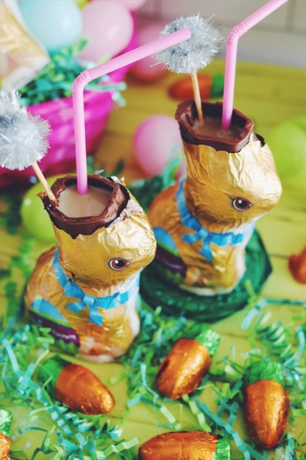 Espresso Martini in a chocolate easter bunny