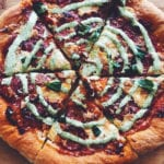 Homemade Pepperoni Pizza with Creamy Jalapeno Ranch Sauce