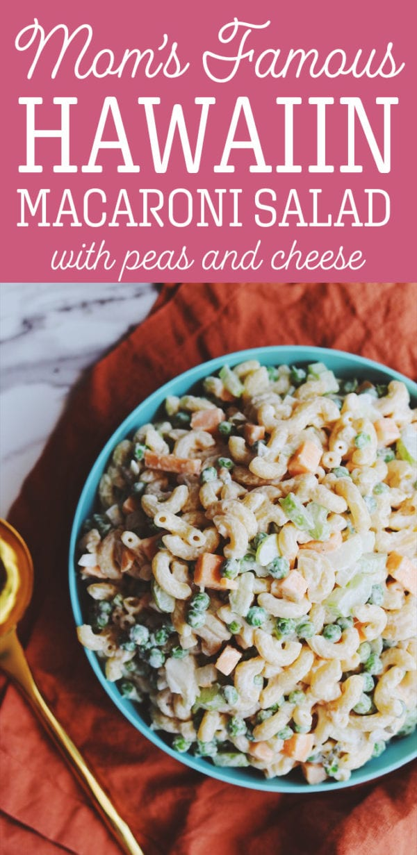best hawaiian macaroni salad with cheese and peas