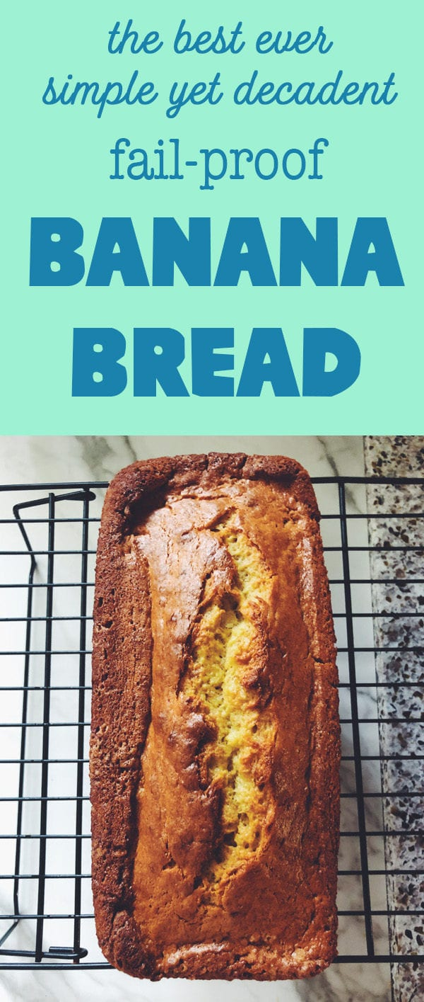 easy banana bread with honey butter