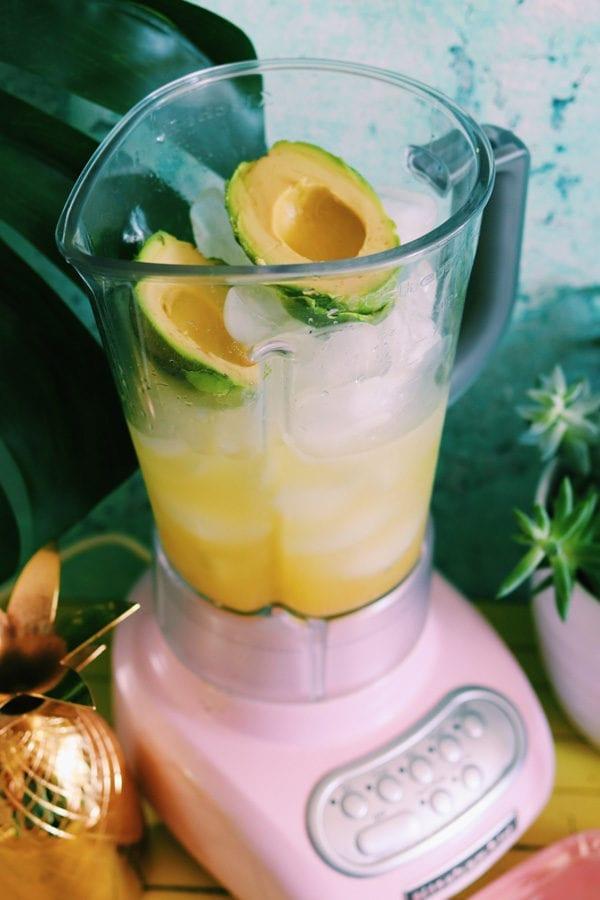 avocado cocktail recipe with coco lopez - coconut rum drink