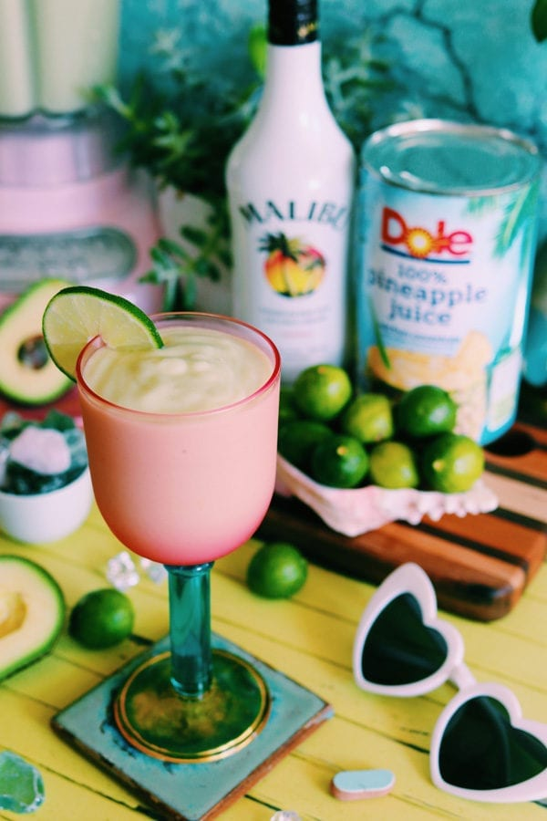 Coconut Rum Drink - avocado cocktail recipe with coco lopez
