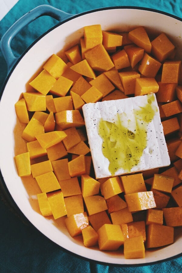How to make Baked Feta and Butternut Squash Pasta